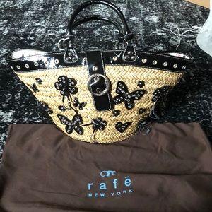 🖤RAFE Black /Tan Straw Bag
